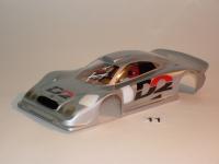 """NeAn Clear """"TEAPOT"""" 1/24 MERCEDES BENZ CLK GTR BODY, Lexan, thickness .01"""" (0.25 mm), w/paint masks - #6511-L"""
