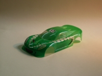 """NeAn Clear """"TEAPOT"""" 1/24 LOTUS ELISE BODY, Lexan, thickness .01"""" (0.25 mm), w/paint masks - #6517-L"""