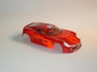 "NeAn Clear ""TEAPOT"" 1/24 ALFA ROMEO 8C BODY, PVC, thickness .015"" (0.4 mm), w/paint masks - #6518-P"