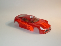 "NeAn Clear ""TEAPOT"" 1/24 ALFA ROMEO 8C BODY, Lexan, thickness .01"" (0.25 mm), w/paint masks - #6518-L"
