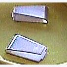 Клипсы для проводов в токосъемник  из посеребренной меди, длинные, пара - #SL7-209