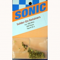 "SONIC Brass solder-on retainers, inner dia. .050"" (1.28 mm),1 pc. - #25-1"