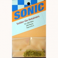 "SONIC Brass solder-on retainers, for .063"" wire (1.6 mm),1 pc. - #25-2"