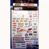 TAYLO RACING SPONSOR STICKERS #2, w/cut outline, sheet 167 х 110 mm- #002