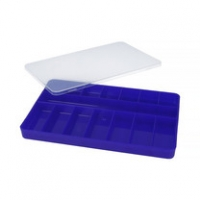 ZHB Organiser 145×232×23 mm, blue, w/transparent cover, plastic
