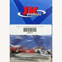 "JKP CHEETAH .7 F1/INDY BODY CLIPS  (for 1/32 ""Cheetah 11"" chassis), pair - #JK9010"