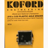 "KOFORD 3/32"" (2.36 mm) .010"" (0,254 mm) thick, plastic axle spacer, 1 pc. - #M704"