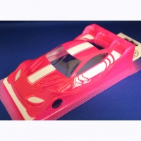 "OLEG Custom Painted Body Production 1/24 Aston Martin Vantage PINK DTM 2019, Lexan .007"" (0.175 mm) - #0131A"