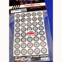 TAYLORACING FRONT WHEEL STICKERS, set for 20 bodies, cut out along the counter - #006