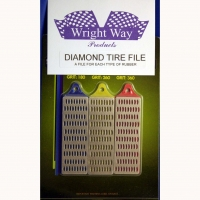 WRIGHTWAY DIAMOND TIRE FILE w/big & small coating, set of 3 pcs. - #WW52