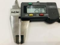 DUBICK Шайба (проставка) алюминиевая на ось 2 мм, шириной 2,5 мм, 1 шт. - #DE713-2.5