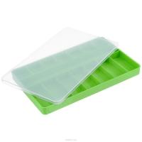Органайзер для деталей размером 145×232×23 мм, зеленый с прозрачной крышке