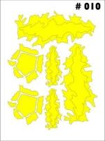Маски для покраски кузова декоративные, лист 90 х 120 мм, монтажная плёнка в комплекте - #10