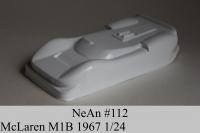 NeAn Кузов Retro 1/24 McLaren M1B 1967, Lexan толщиной 0.254 мм - #112-L