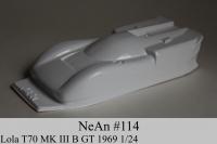 NeAn Кузов Retro 1/24 Lola T70 MK III B GT 1969, Lexan толщиной 0.254 мм - #114-L