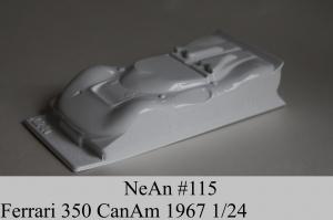 NeAn Кузов Retro 1/24 Ferrari 350 Canam 1967, Lexan толщиной 0.254 мм - #115-L