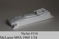 NeAn Кузов Retro Formula 1/24 McLaren M9A 1969, Lexan толщиной 0.254 мм - #116-L