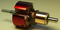 "Ротор VALIKO 45/28 C-arm (ceramic, blue), диаметр .460"", длина пакета .240"", угол опережния 28º, длина по подшипникам .660"", вал 1.5 мм"