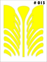 Маски для покраски кузова декоративные, лист 90 х 120 мм, монтажная плёнка в комплекте - #13