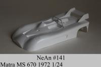 NeAn Кузов Retro 1/24 Matra MS 670 1972, Lexan толщиной 0.254 мм - #141-L