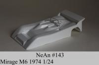 NeAn Кузов Retro 1/24 Mirage M6 1974, Lexan толщиной 0.254 мм - #143-L
