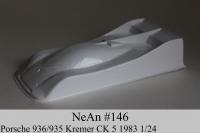 NeAn Кузов Retro 1/24 Porsche 936/935 Kremer CK 5 1983, Lexan толщиной 0.254 мм - #146-L
