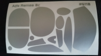 Комплект малярных масок для кузова Alfa Romeo 8c - #CH18