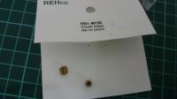 REH Шестерня на электродвигатель 48 pitch 6 зубов, на вал 2 мм, латунная - #REH6165