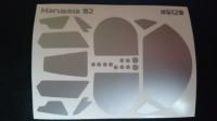 Комплект малярных масок для кузова Marussia B2 - #CH20