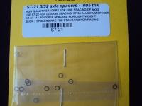 """Шайбы на ось 3/32"""" (2.36 мм), шириной 0.127 мм (.005""""), стальные, 10 шт. - #SS-21"""