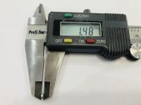 DUBICK Шайба (проставка) алюминиевая на ось 2 мм, шириной 1,5 мм, 1 шт. - #DE713-1.5