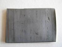 Свинец листовой толщиной 1 мм, 37 х 25 мм с липким слоем - #503