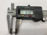 DUBICK Шайба (проставка) алюминиевая на ось 2 мм, шириной 6,5 мм, 1 шт. - #DE712-6.5