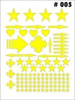 Маски для покраски кузова декоративные, лист 90 х 120 мм, монтажная плёнка в комплекте - #5