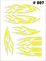 Маски для покраски кузова декоративные, лист 90 х 120 мм, монтажная плёнка в комплекте - #7