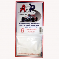 Шестерня на электродвигатель ARP 48 pitch 6 зубов с углом 5°,  на вал 2 мм, стальная - #4806