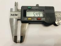 DUBICK Шайба (проставка) алюминиевая на ось 2 мм, шириной 5,5 мм, 1 шт. - #DE712-5.5