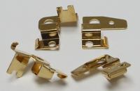 Щеткодержатели вертикальные CAHOZA, позолоченные, компл - #170