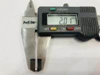 DUBICK Шайба (проставка) алюминиевая на ось 2 мм, шириной 2 мм, 1 шт. - #DE713-2