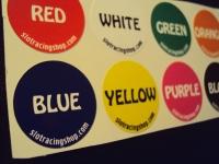 Цветные стикеры на модель, 1 комплект (цветные номера дорожек)