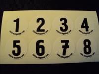 Номерки дорожек на модель с первого по восьмой, комплект на гонку