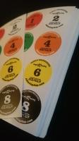Цветные стикеры на модель, 100 комплектов (цветные номера дорожек)