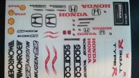 Набор наклеек на кузов Racing decals UNI 03, с вырезанным контуром, лист 167 х 110 мм - #UNI 03