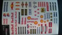 Набор наклеек на кузов Racing decals UNI 02, с вырезанным контуром, лист 167 х 110 мм - #UNI 02