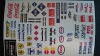 Набор наклеек на кузов Racing decals UNI 01, с вырезанным контуром, лист 167 х 110 мм - #UNI 01