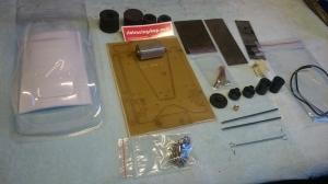 """Набор №2. Размеченные заготовки и комплектующие для сборки модели класса ТА-24 """"Стандарт"""" для начинающих - #K048"""