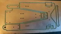 """Заготовка для изготовления шасси класса ТА-24 """"Стандарт"""" классический вариант. Лист 100 х 200 мм, толщиной 1.5 мм с выфрезерованными на половину глубину деталями шасси. Масштаб 1:24 - #IR12"""