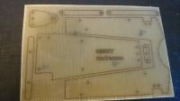 """Заготовка для изготовления шасси класса """"Чайник"""" 1/24 . Лист 100 х 200 мм, толщиной 1.5 мм с чертежом деталей шасси - #IR05"""