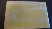 """Заготовка для изготовления шасси класса """"Чайник"""" 1/24. Лист 100 х 200 мм, толщиной 1.5 мм с выфрезерованными на половину глубину деталями шасси - #IR06"""