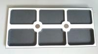 Органайзер настольный для работы с мелкими деталями 81×171×10 мм. Имеет встроенный магнит.